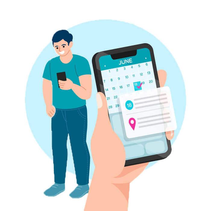 Envoyer des notifications SMS comme pense-bête pour les rendez-vous