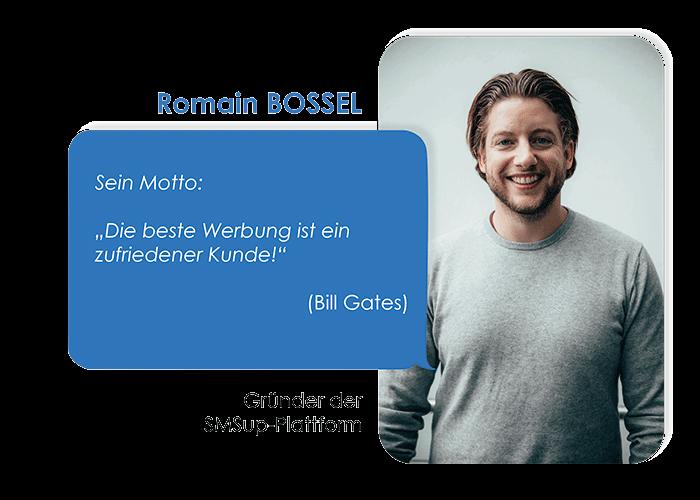 Romain Bossel Gründer von SMSup