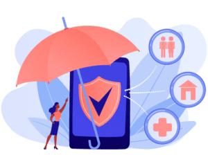 Campagne de SMS dans le secteur des assurances.