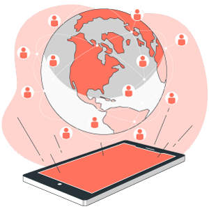 Réception de SMS partout dans le monde.