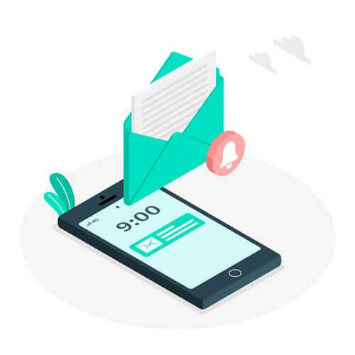 Double authentification par SMS, réception d'un code par notification SMS
