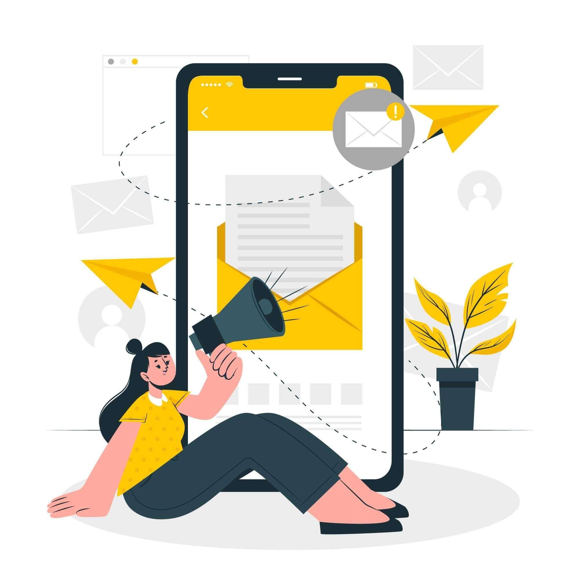 Illustration envoi SMS par téléphone