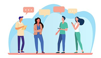 Discussion entre personnes par SMS